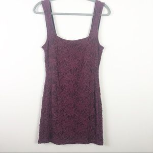 Free People | Plum Lace Bodycon Style Dress